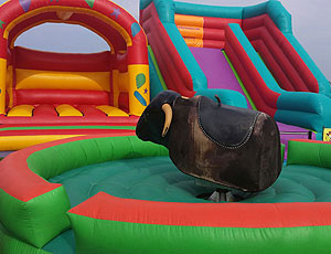 bucking bronko bouncy castle hire
